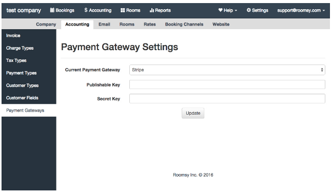 how to add a payment gateway to a hotel management system