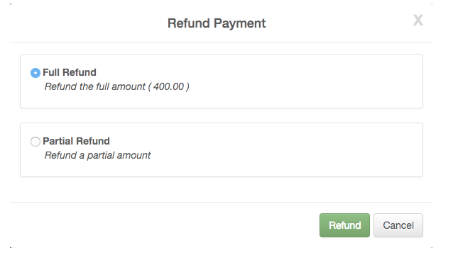 partial refund with roomsy