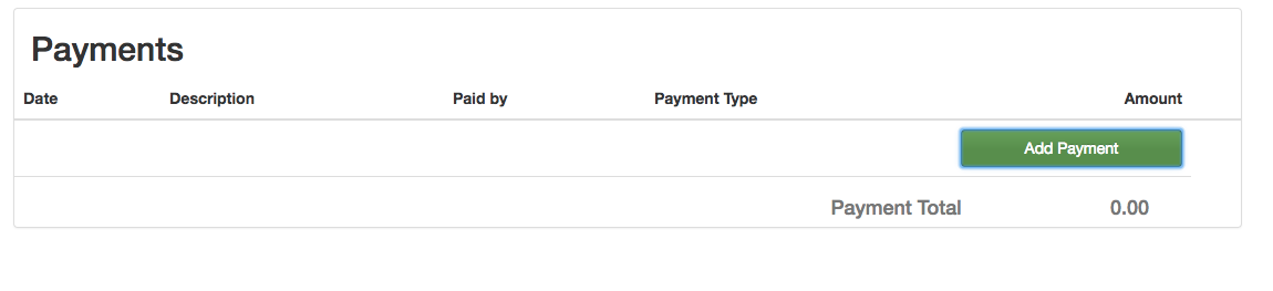 adding a payment roomsy