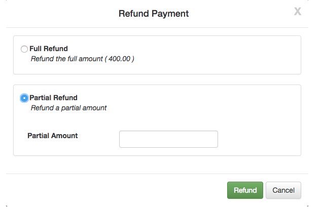 how to issue a full refund